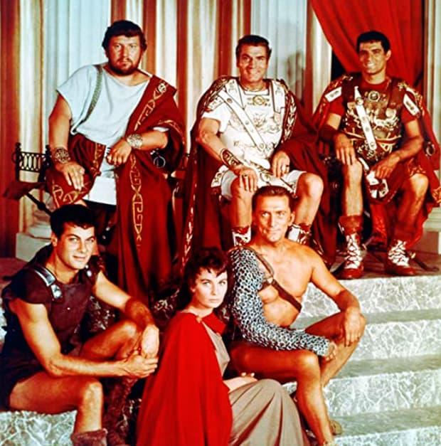actores espartaco 1960
