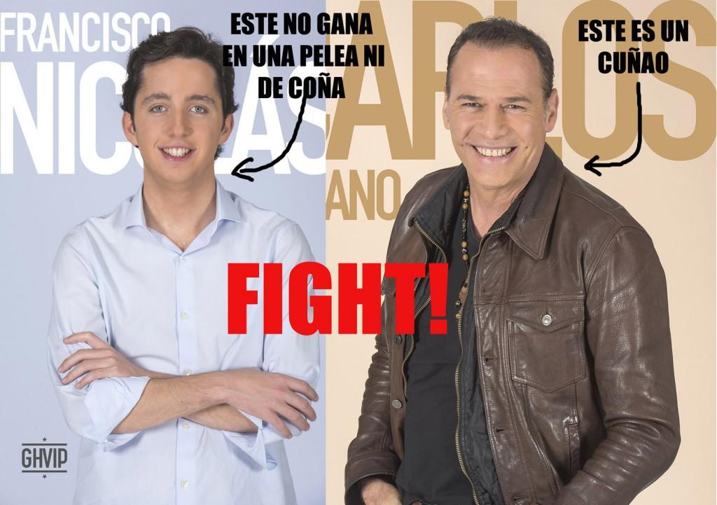 El Pequeño Guerrero Hostialás y Carlos Bocachanclano. (TELECINCO)