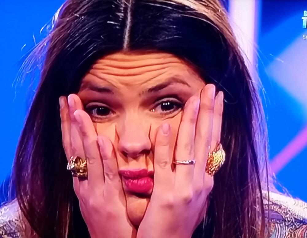 Laura, con la cara más alegre que es capaz de poner.