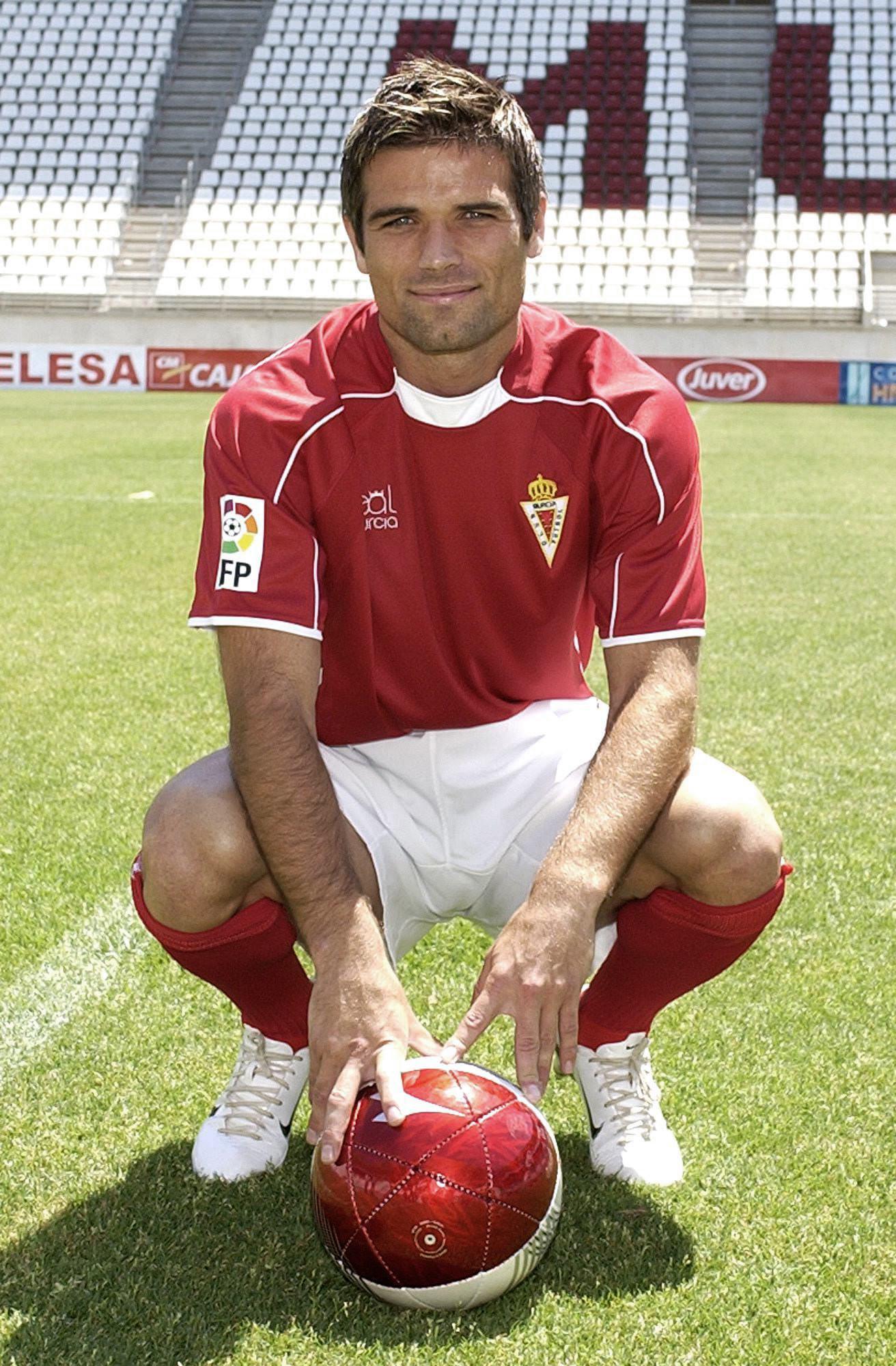 De Lucas, en su presentación con el Real Murcia en 2007 (Archivo 20minutos).