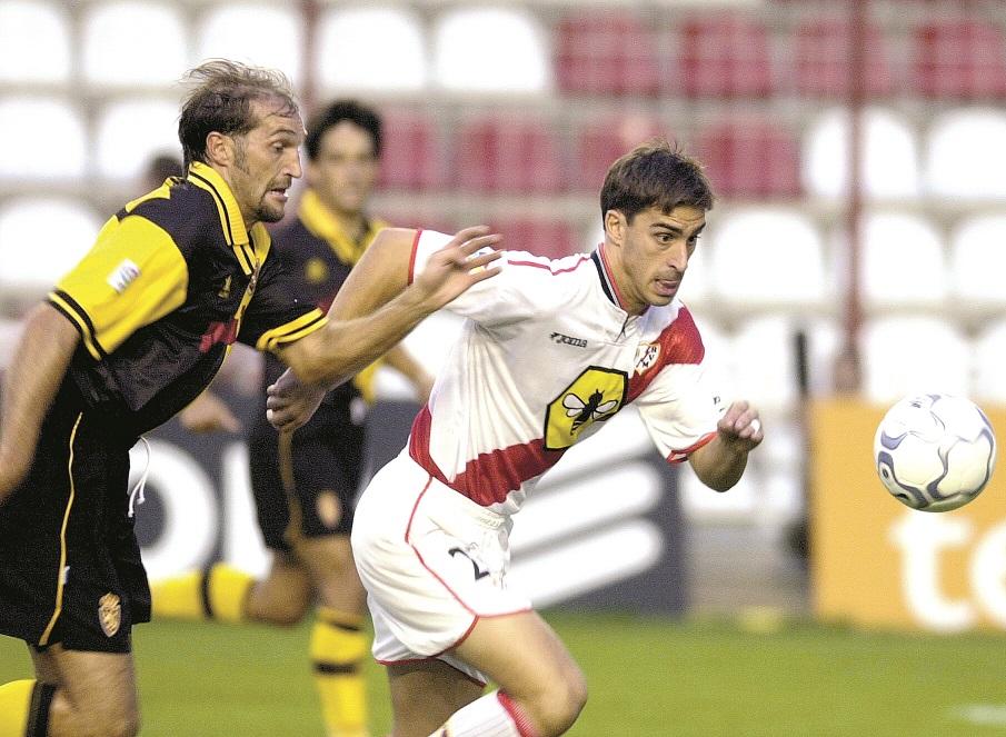 Bolo, en acción en un partido ante el Zaragoza en Vallecas (Archivo 20minutos).