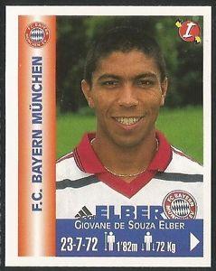 Cromo de Élber con el Bayern de Múnich (PANINI).