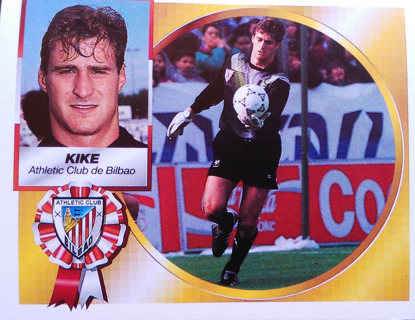 Cromo de Kike Burgos de la temporada 94/95 (Ed. Este).