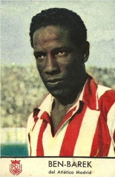 Cromo de Ben Barek de su época en el Atleti (Atlético de Madrid).