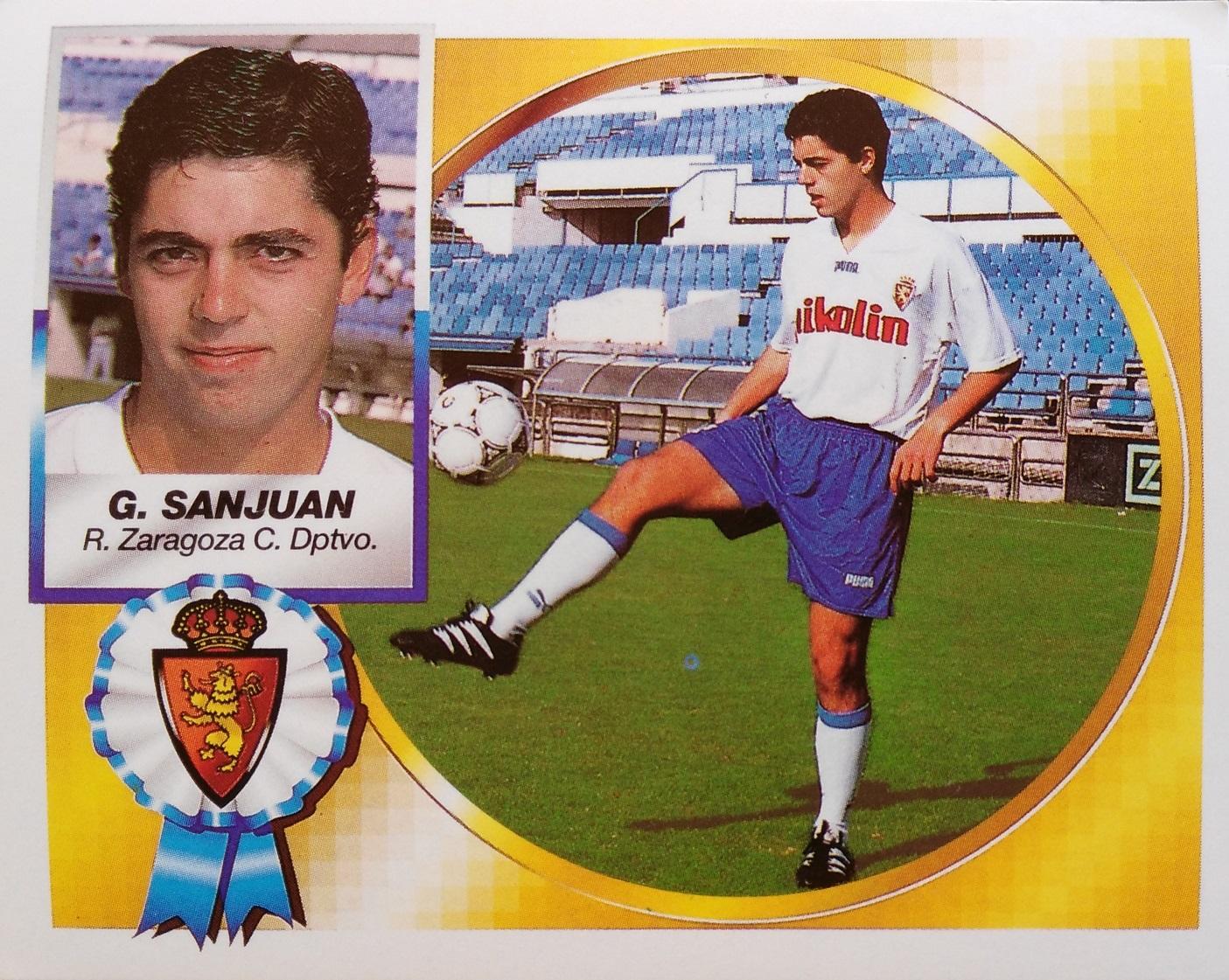 Cromo de García Sanjuan en su etapa en el Zaragoza (Ed. Este).