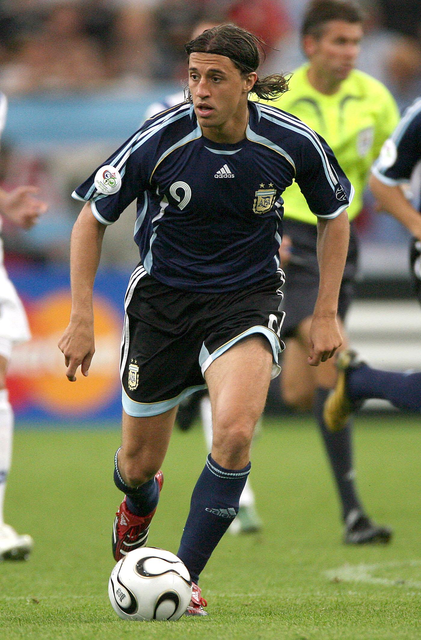 Hernán Crespo, en el Argentina-Serbia del Mundial de 2006, en Alemania (GTRES).