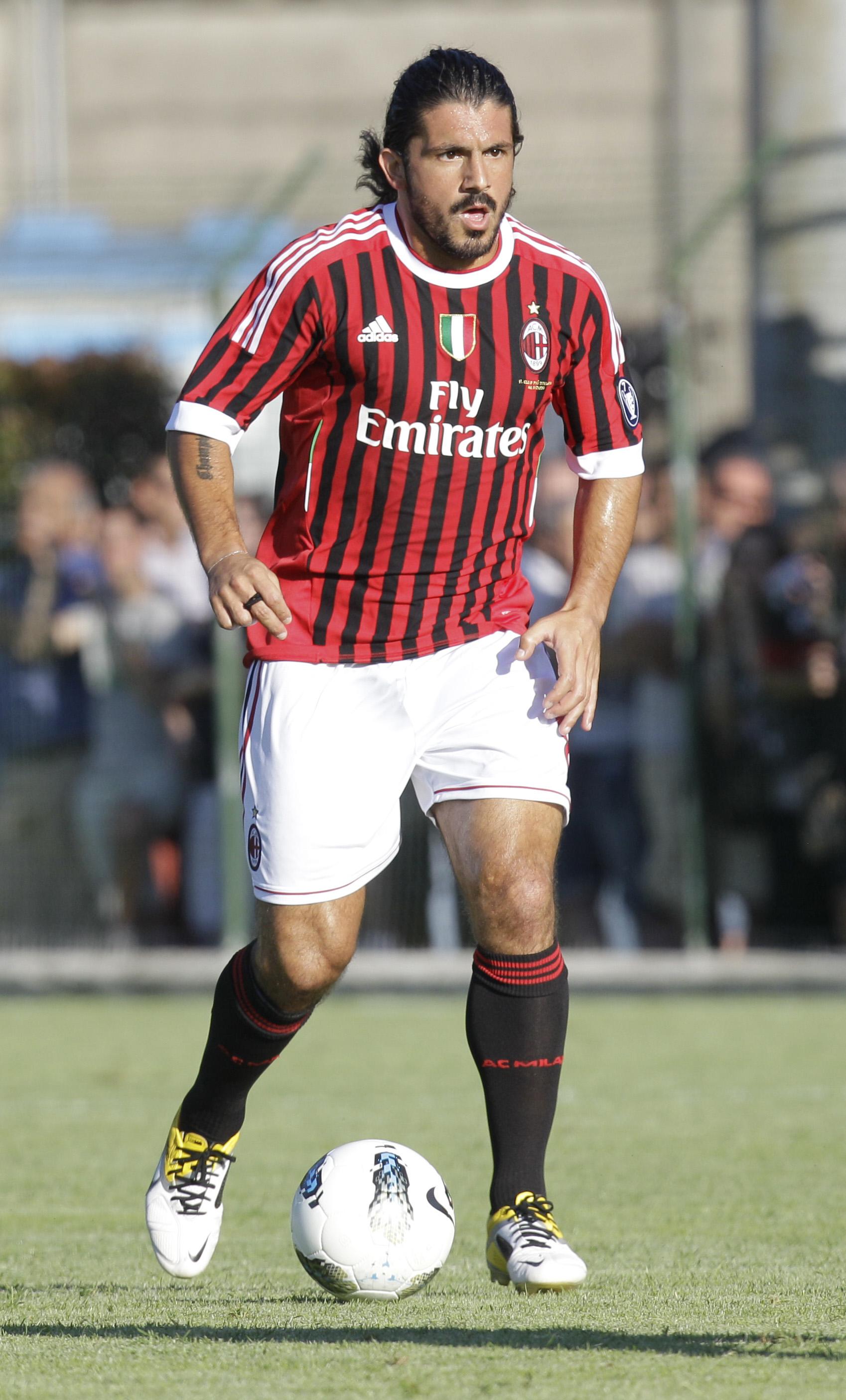 Gennaro Gattuso, en un partido amistoso del Milan en 2011 (GTRES).