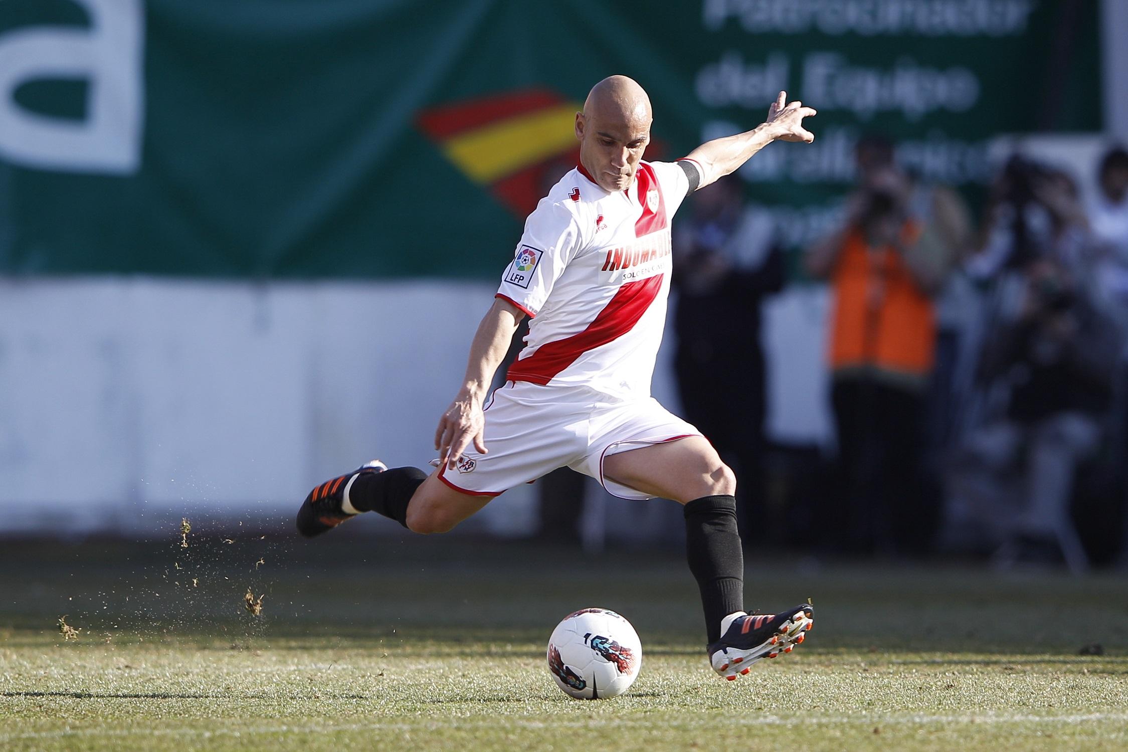 Movilla en un partido entre el Rayo y el Madrid disputado en Vallecas en febrero de 2012 (GTRES).