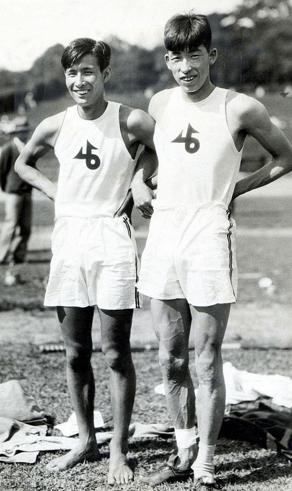 Sueo Oe y Shuhei Nishida, en 1930 (WIKIPEDIA).