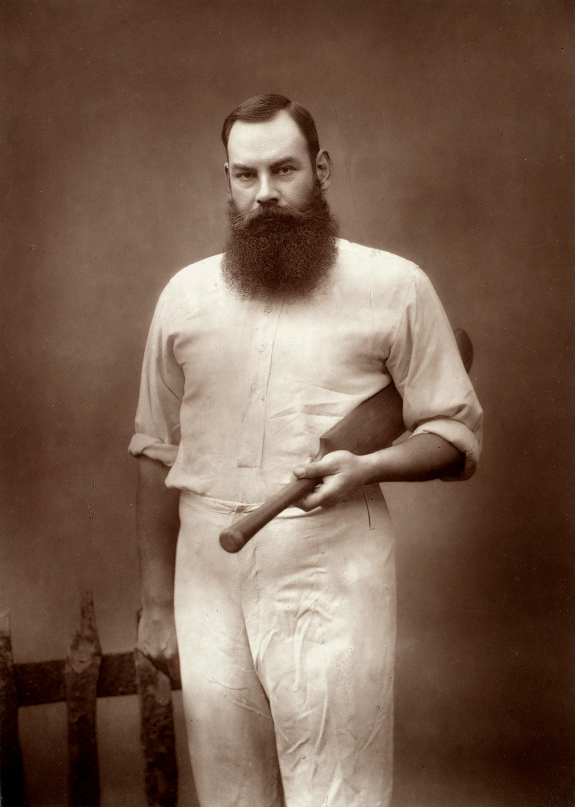 W. G. Grace, a finales de la década de 1880 (WIKIPEDIA).