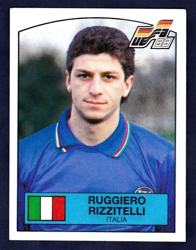 Rizzitelli, en un cromo de cara a la Eurocopa del 88 (PANINI).