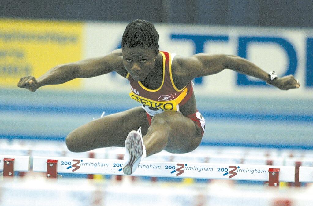 Alozie, en los Mundiales indoor de Birmingham 2003 (Archivo 20minutos).
