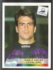 Cromo de Cavallero de 1998 (PANINI).
