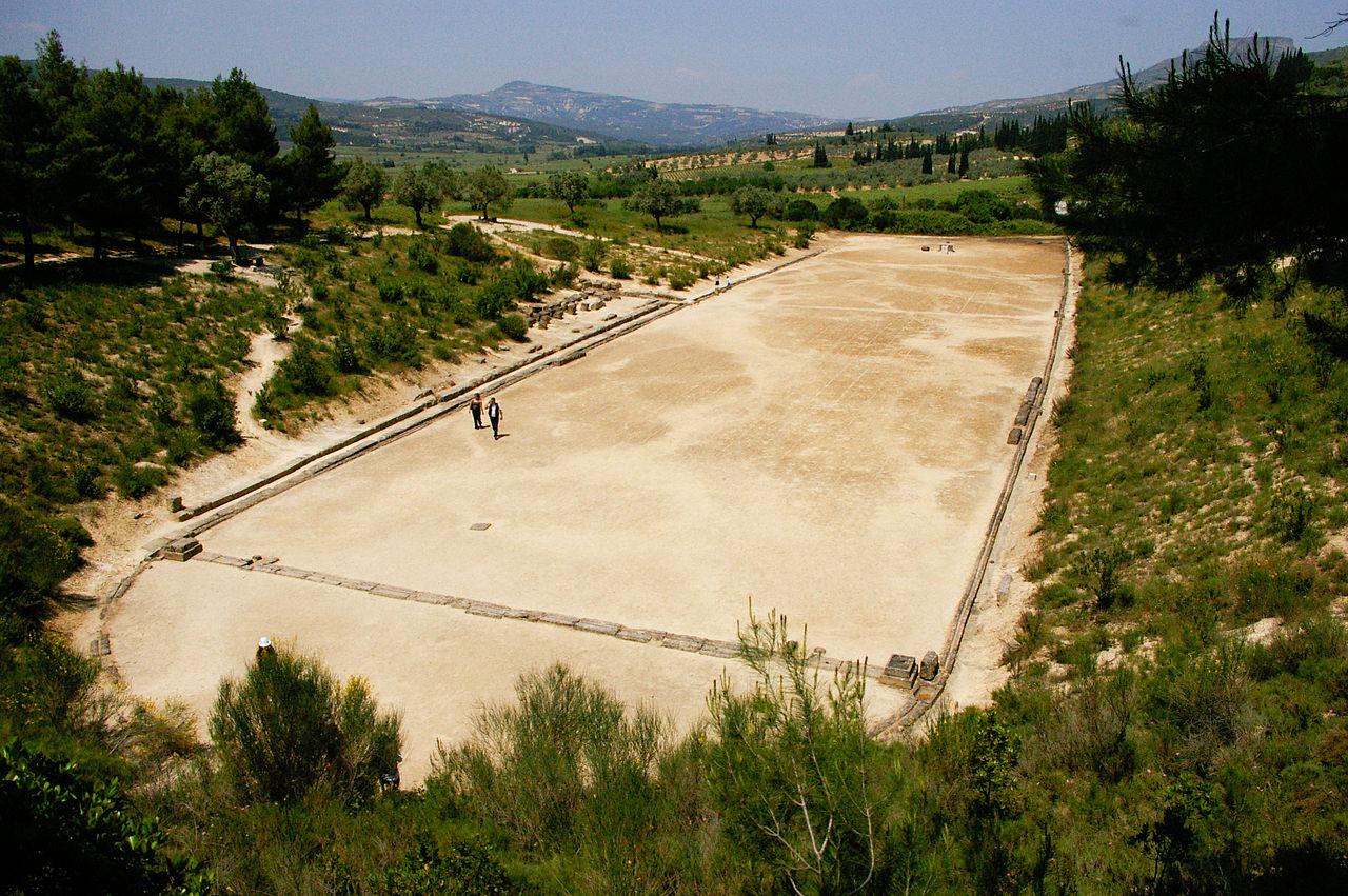 Estadio en el que Corebo ganó la primera carrera olímpica (WIKIPEDIA).