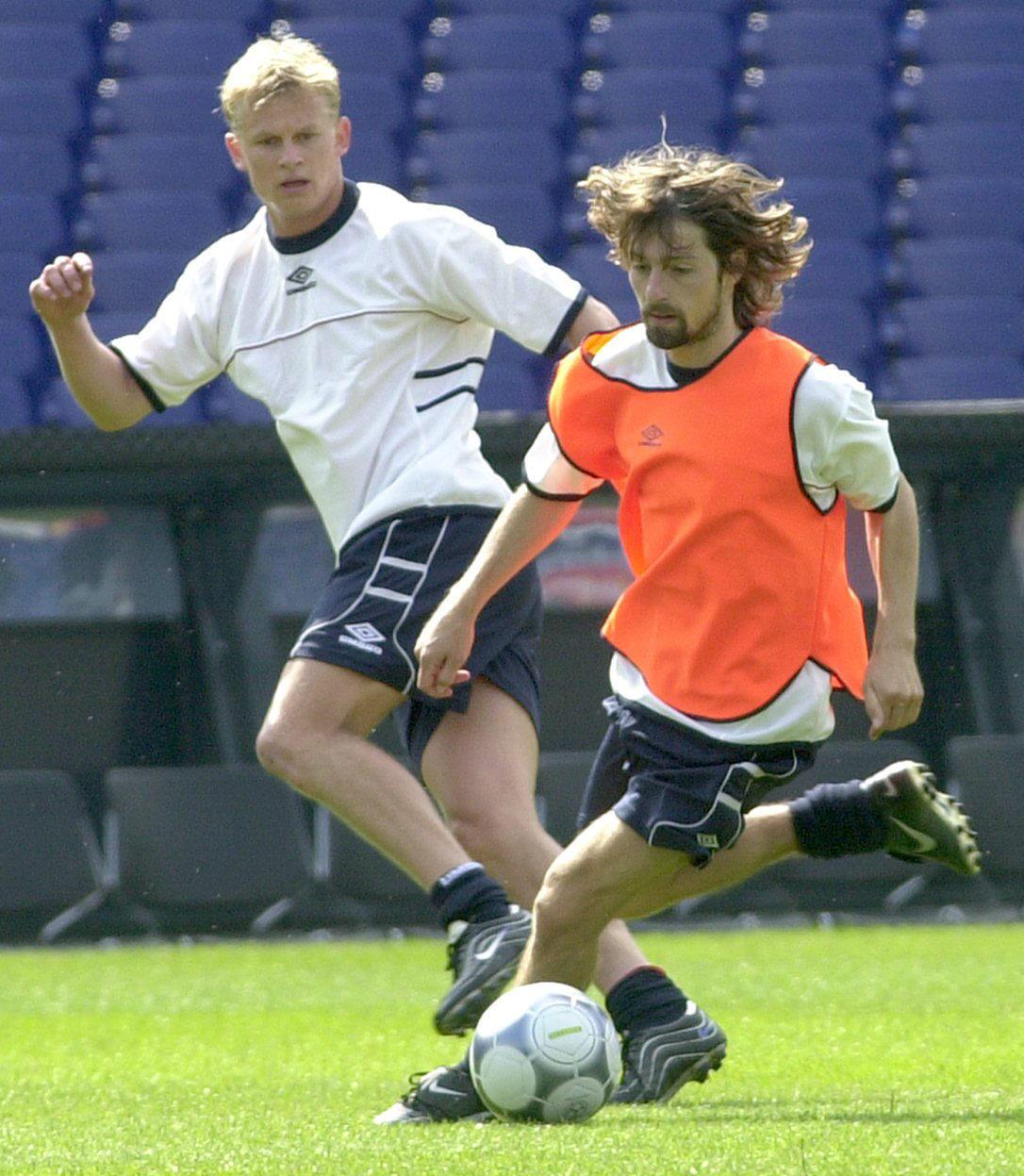 Erik Mykland, con Iversen en un entrenamiento previo al comienzo de la Eurocopa 2000 (Archivo 20minutos).