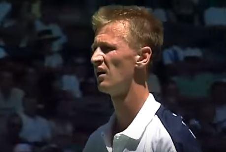 Petr Korda, en el Open de Australia del 98 (YOUTUBE).