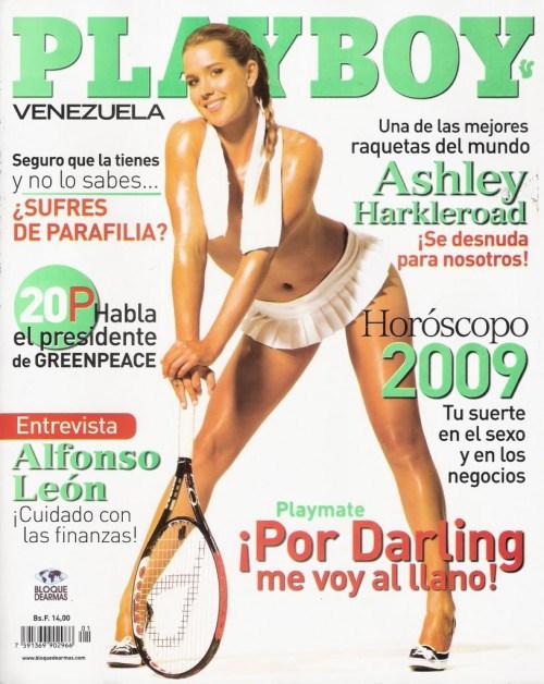 Portada de la versión venezolana de 'Playboy' con Ashley Harkleroad (Playboy)