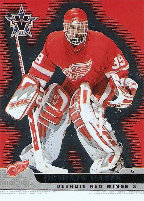 Cromo de Hasek con los Red Wings (VANGUARD).
