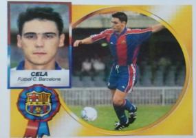 Cromo de Cela con el Barça (Ed. Este).