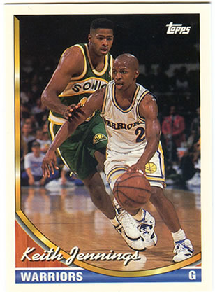 Cromo de Jennings con los Warriors (TOPPS).