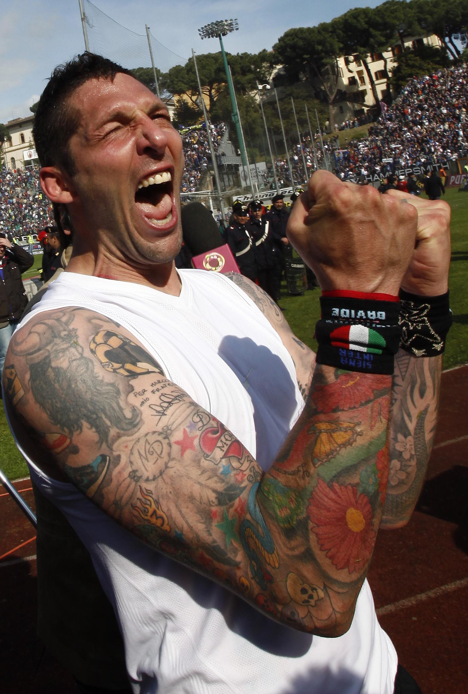 Materazzi, celebrando el 'Scudetto' de 2010 (GTRES).