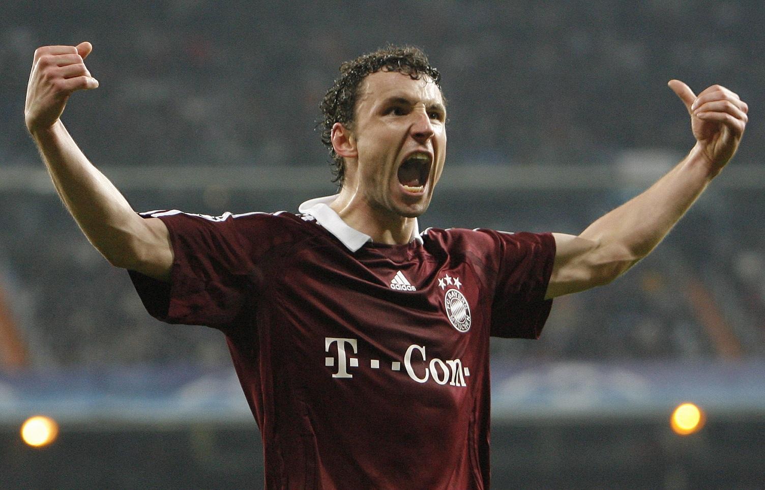 Van Bommel, celebrando un gol del Bayern en un partido de Champions ante el Madrid en la temporada 2006/2007 (GTRES).