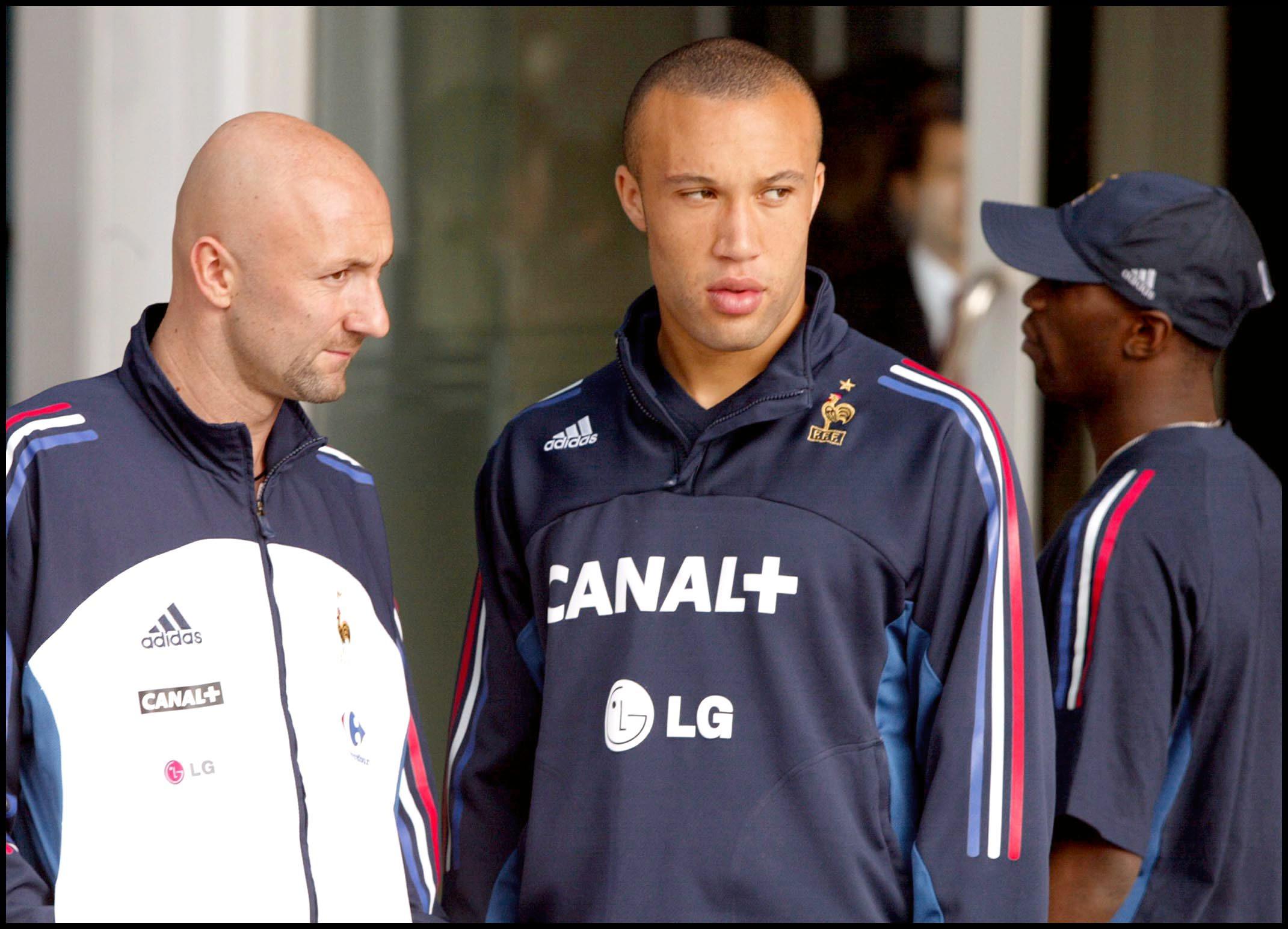Silvestre, con Barthez antes del Mundial 2002 (GTRES).