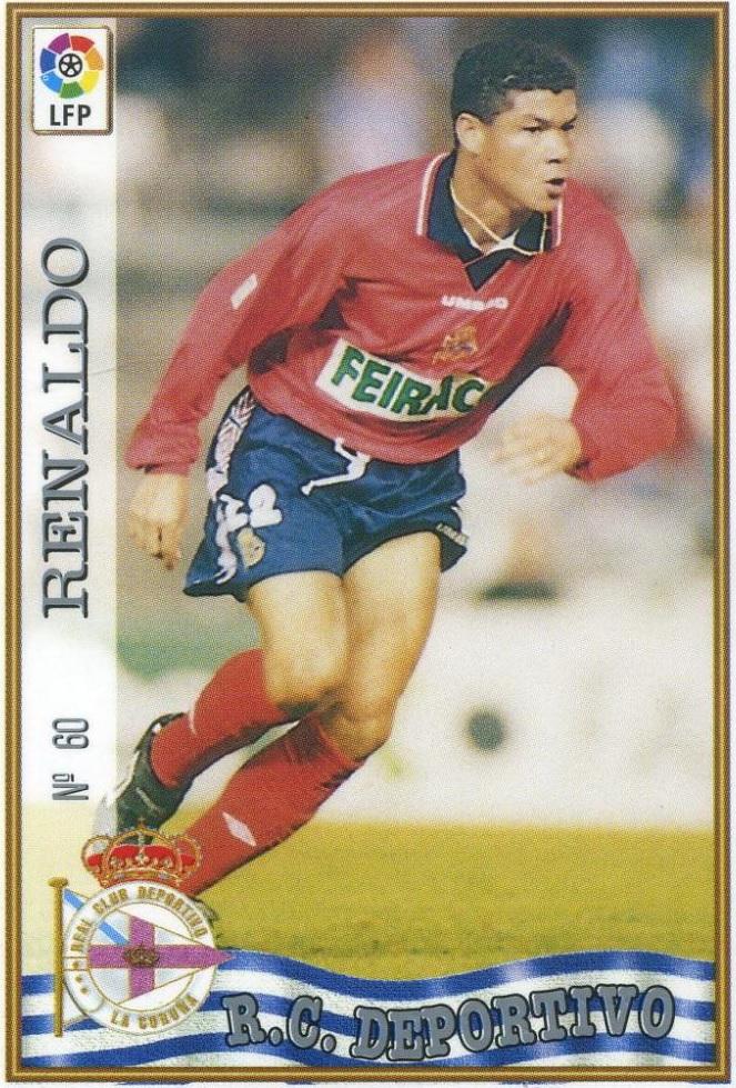 Cromo de Renaldo con el Dépor (MC).