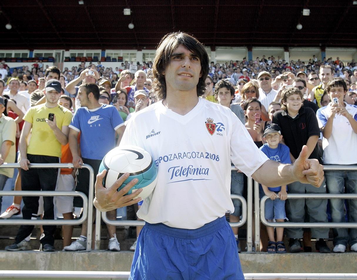 Ayala, en su presentación con el Zaragoza en julio de 2007 (Archivo 20Minutos).