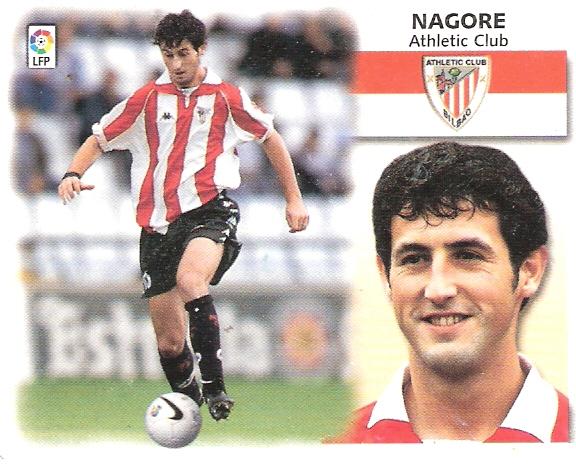 Cromo de Nagore con el Athletic (Ed. Este).