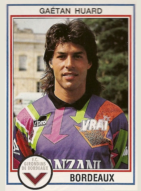 Cromo de Huard con el Girondins, de 1993 (PANINI).