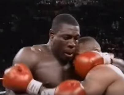 Frank Bruno, en acción contra Tyson (YouTube).