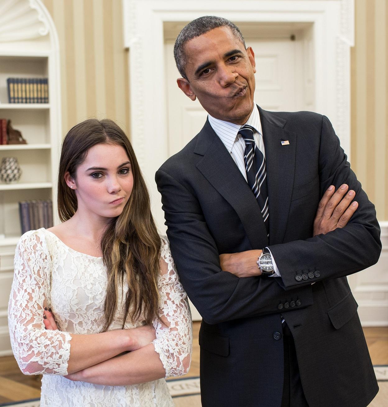 Obama y Maroney posan en la Casa Blanca en noviembre de 2012 (WIKIPEDIA).