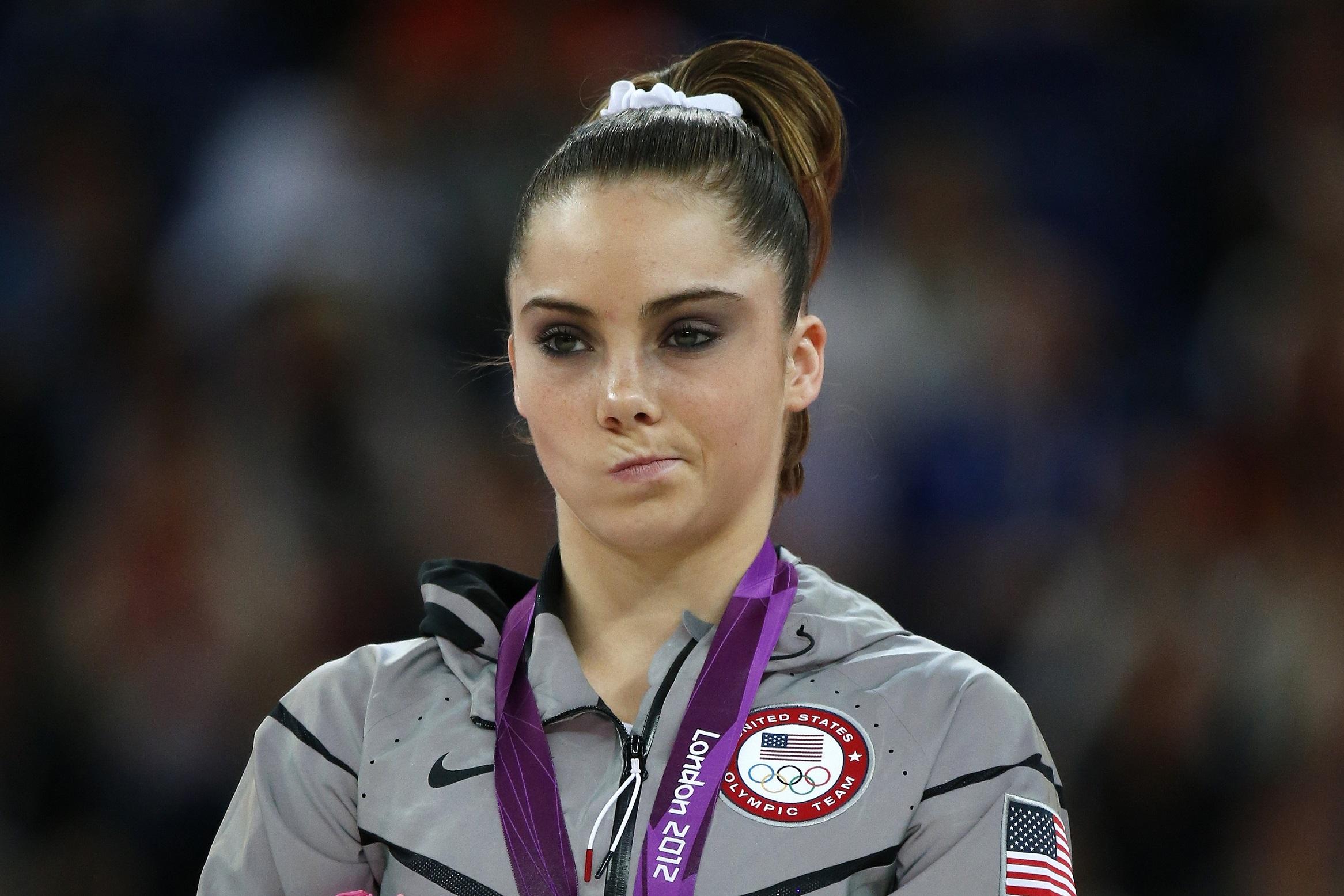 Célebre foto de Maroney en los Juegos que la hizo famosa (YOUTUBE).