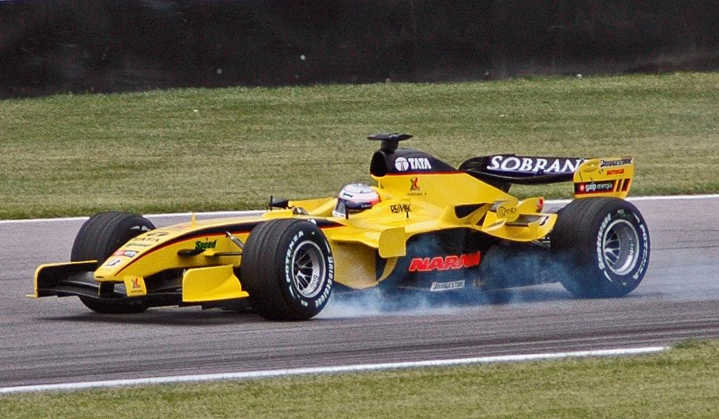 Karthikeyan, en el GP de Estados Unidos de 2005 (WIKIPEDIA).