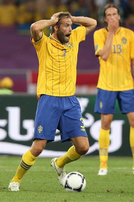 Mellberg, en la Eurocopa de 2012 (WIKIPEDIA).
