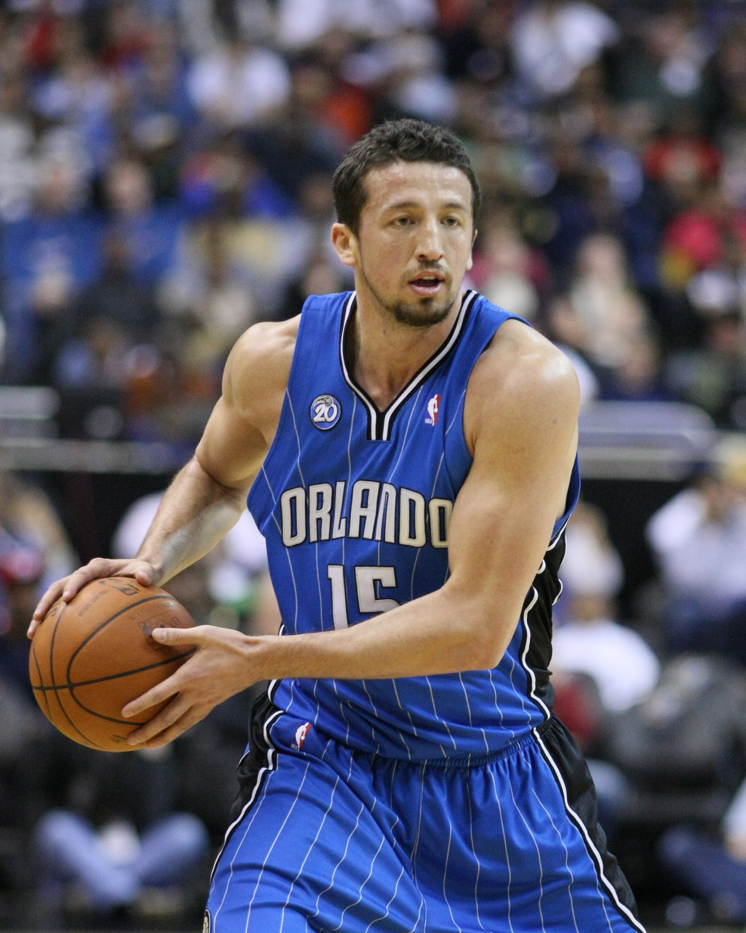 Turkoglu, en acción con los Orlando Magic (WIKIPEDIA).