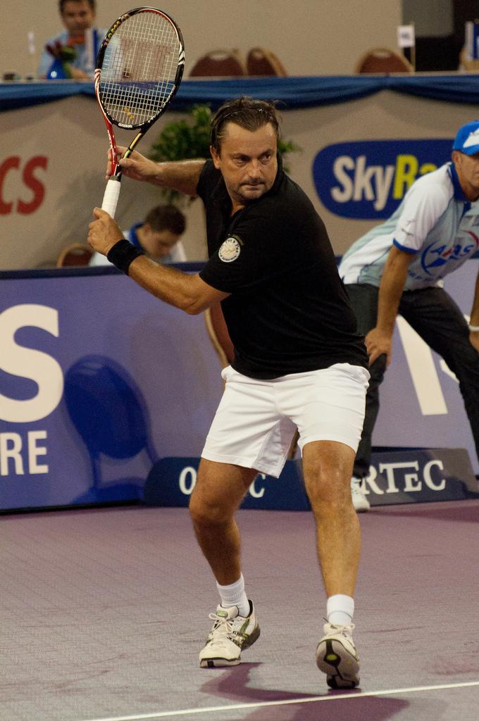 Leconte, en un torneo de veteranos en 2010 (WIKIPEDIA).