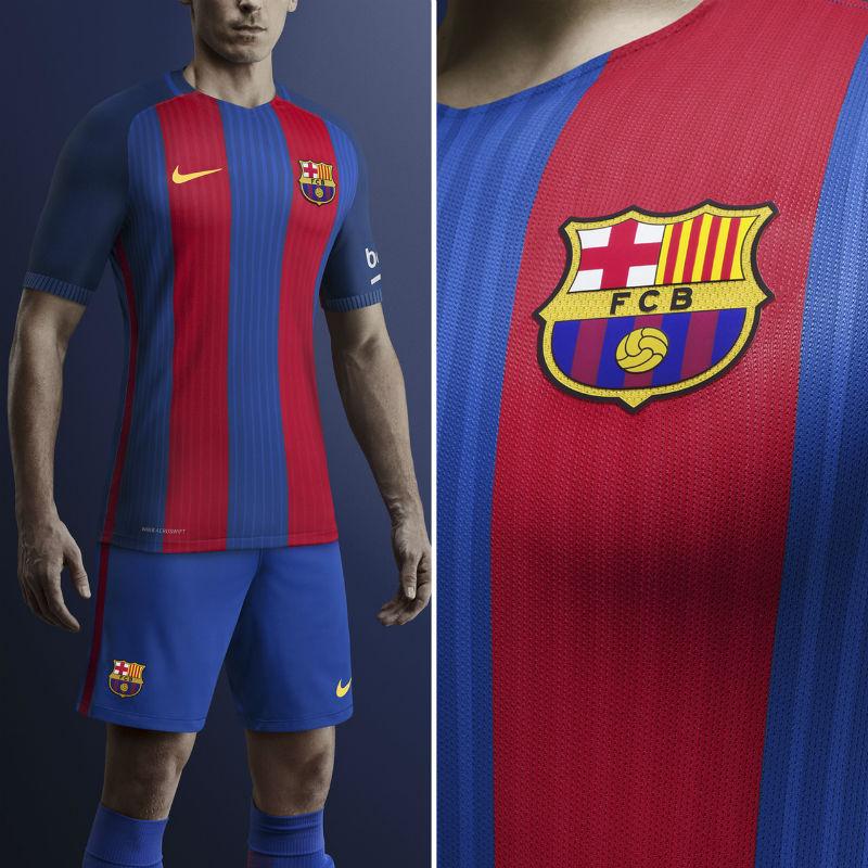 Primera equipación del FC Barcelona 2016/2017 (NIKE).