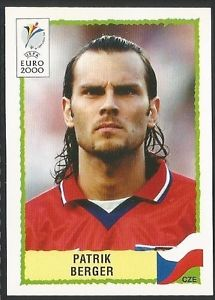 Cromo de Patrik Berger para la Eurocopa de 2000 (PANINI).