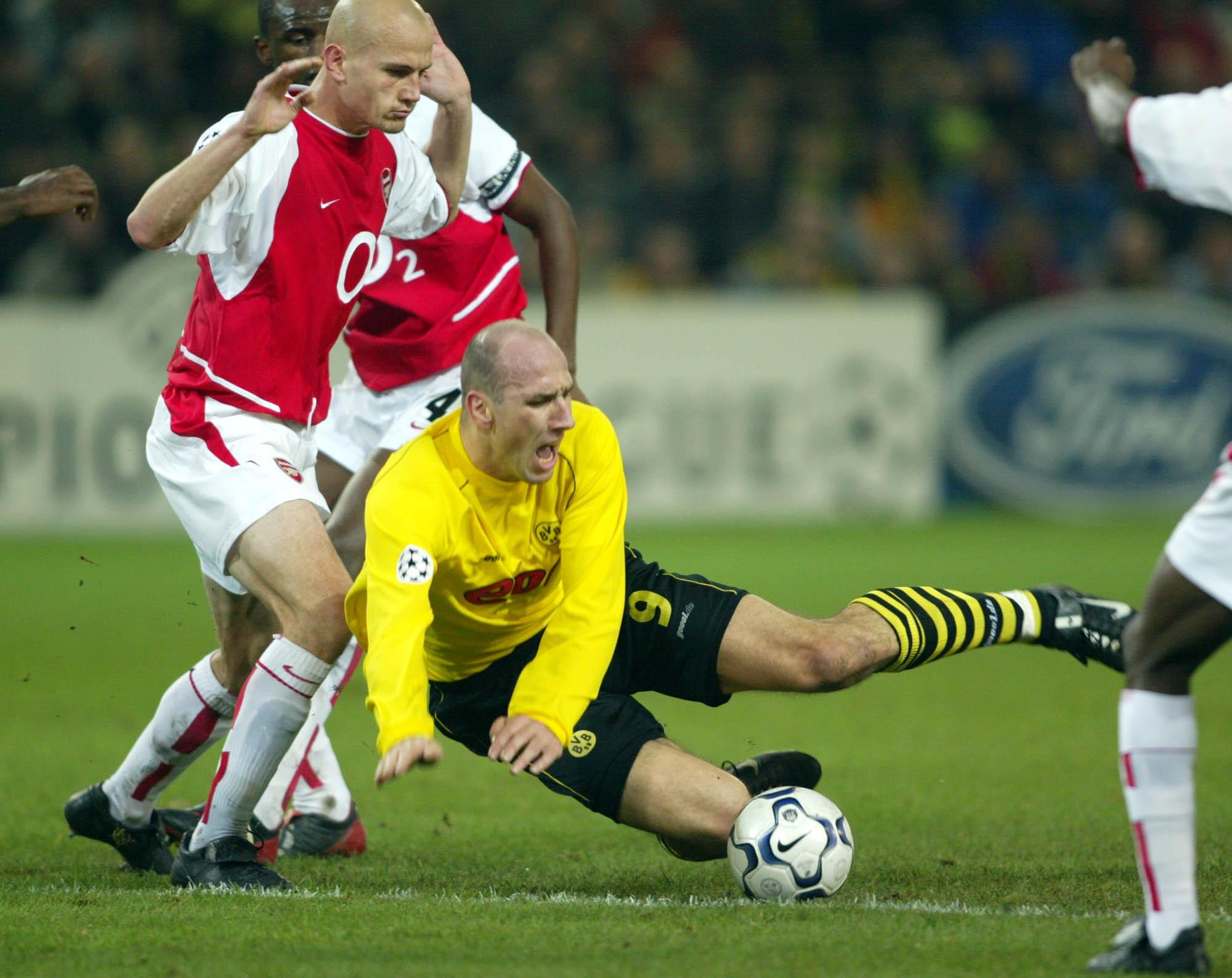 Koller, en un partido de Champions entre Dortmund y Arsenal disputado en octubre de 2002 en el Westfalenstadion (GTRES).