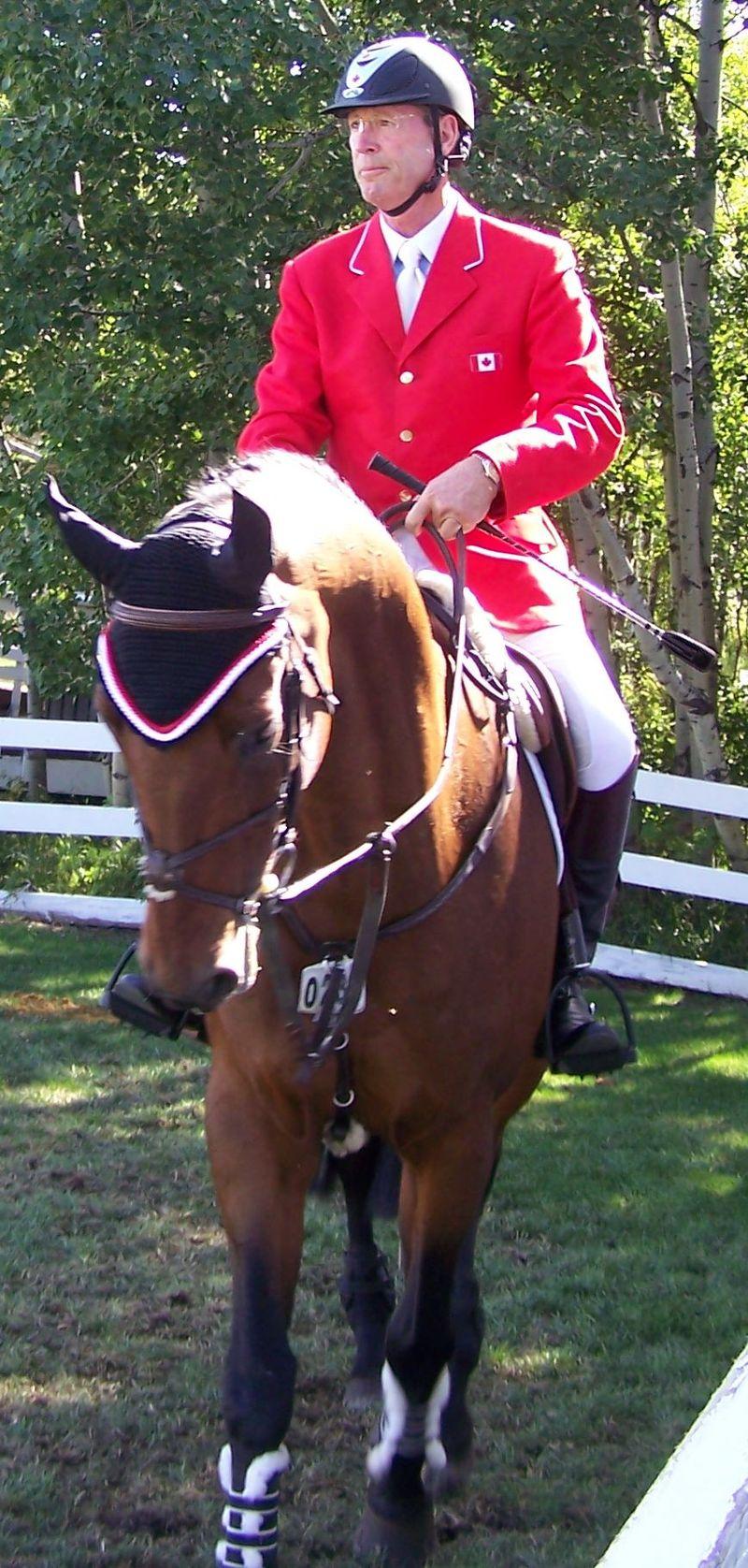 Ian Millar, a lomos de su caballo (WIKIPEDIA).
