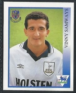 Cromo de Samways con el Tottenham (PANINI).