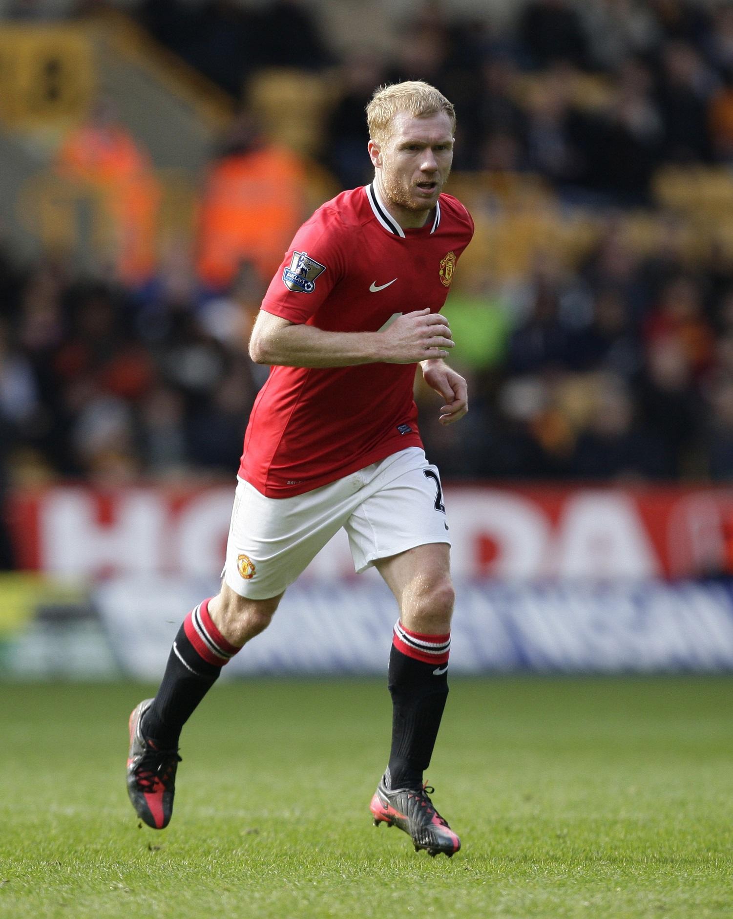 Paul Scholes, en un partido del United en marzo de 2012 (GTRES).