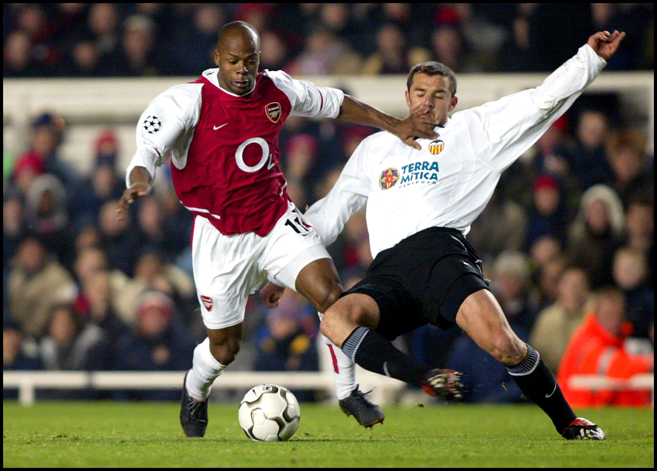 Wiltord, en un Arsenal-Valencia de Champions disputado en diciembre de 2002 (GTRES).