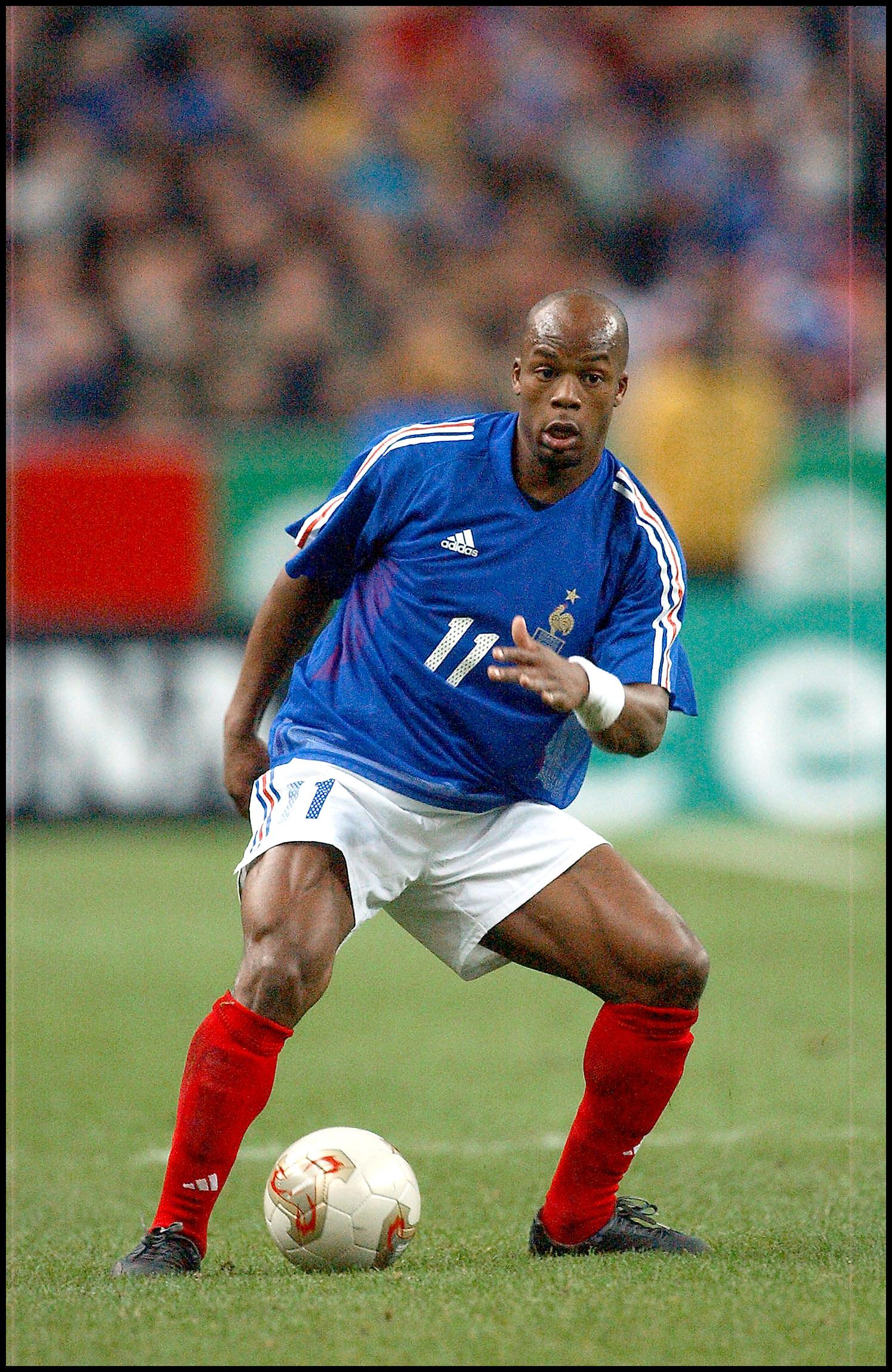 Wiltord, jugando con Francia en Saint Denis en noviembre de 2002 (GTRES).
