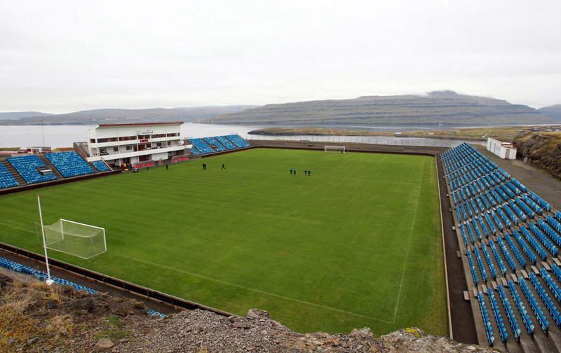 El estadio Svangaskard, en Toftir, Islas Feroe (faroetuourism.com)