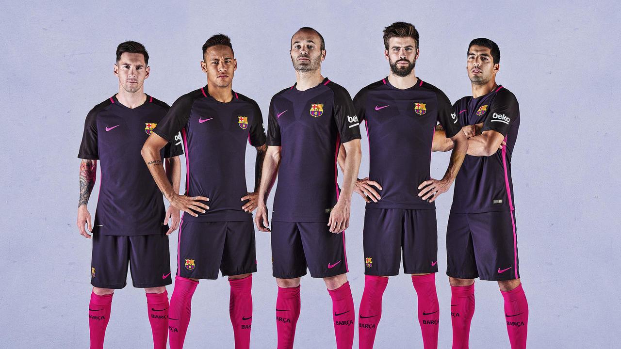 Segunda equipación del Barça 2016/2017 (FCBARCELONA).