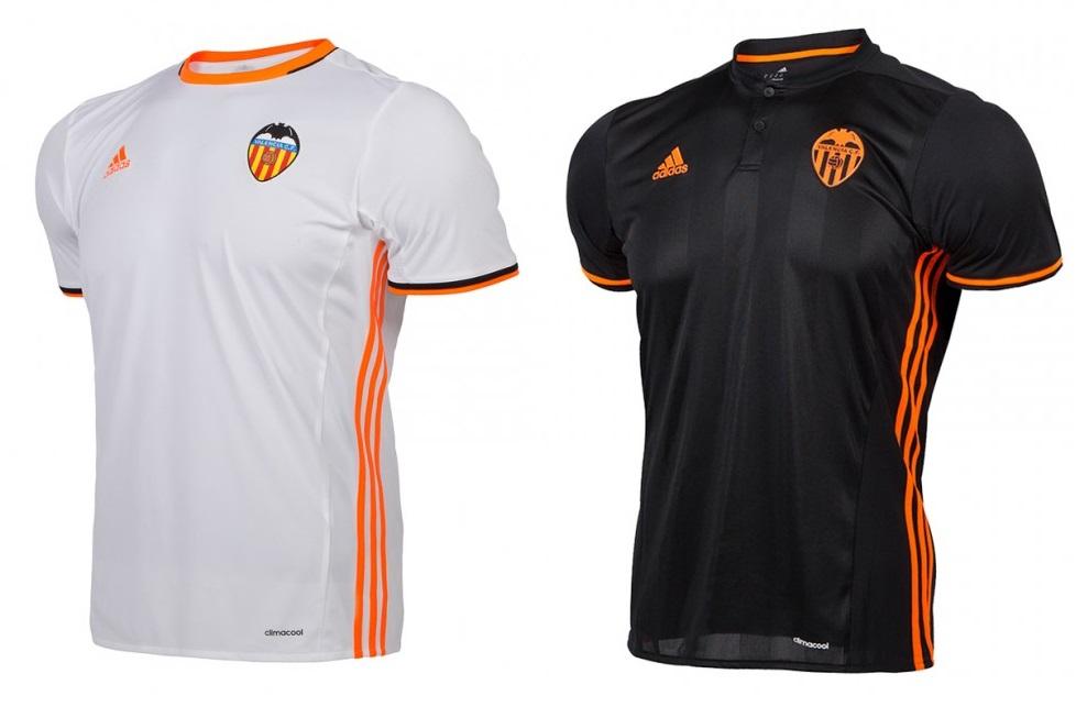 Camisetas del Valencia 2016/2017 (VCF).
