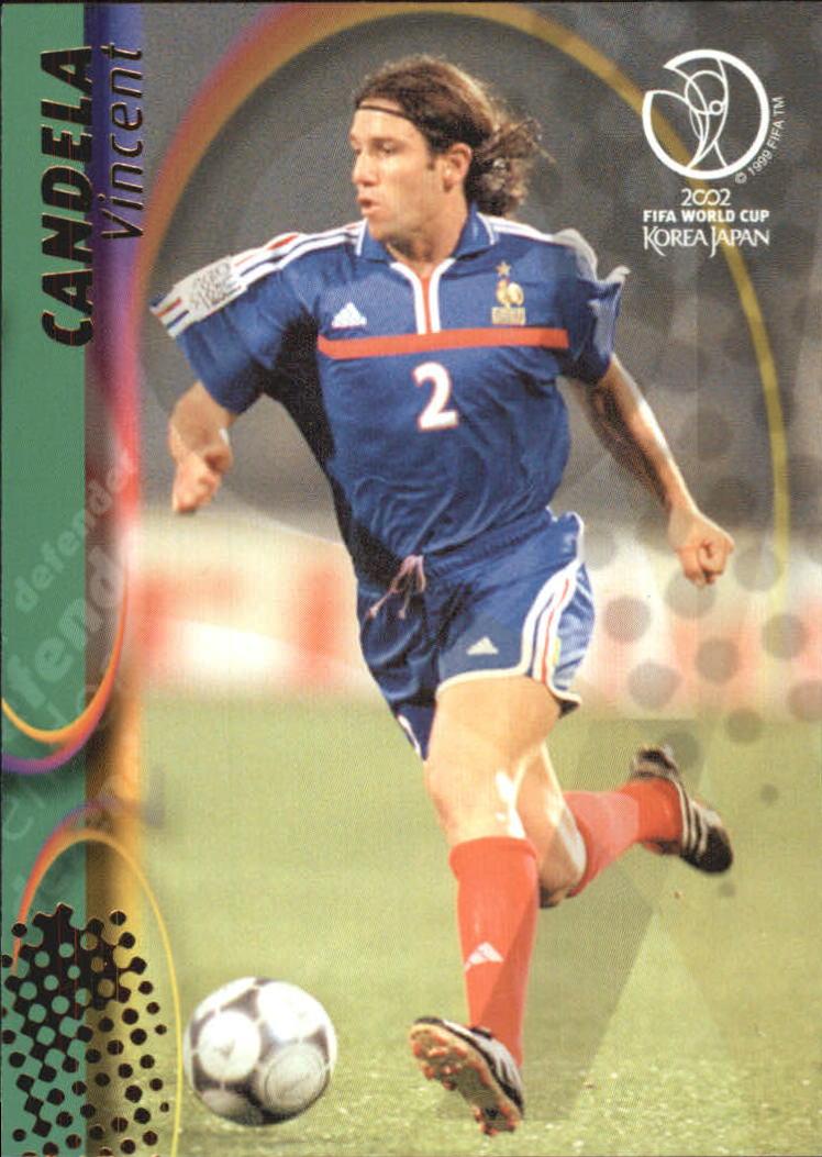 Cromo de Candela para el Mundial de 2002 (TOPPS).